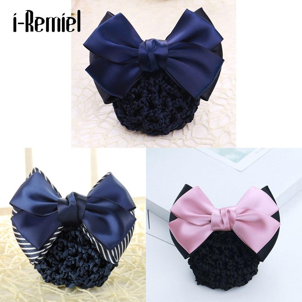 I-Remiel Headdress Hair-Accessories Hair Jewellery Tulle Women Bow Ribbon Bowknot Snood