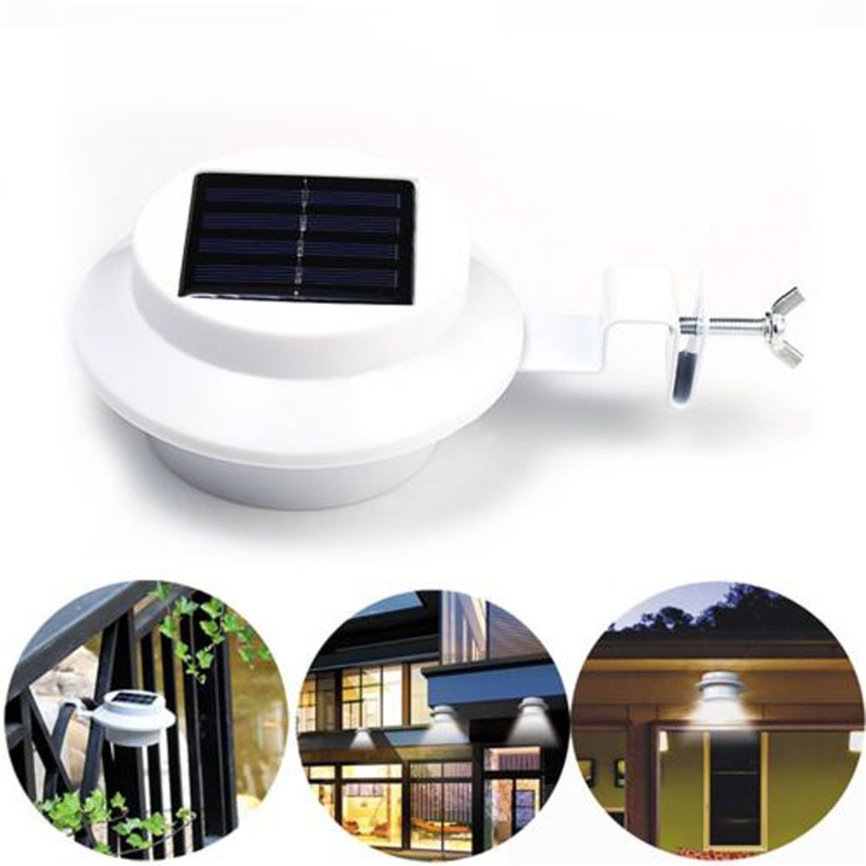 4 LED Solar Powered Gutter Light Outdoor/Garden/Yard/Wall/Fence/Pathway Lamp Decorations For Home Dropshipping 05