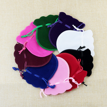 Velvet Bag Brand Wholesale 50pcs Combine Coloration Gourd Spherical Form Material Velvet Jewellery Luggage Small Packaging Pouches eight*10cm