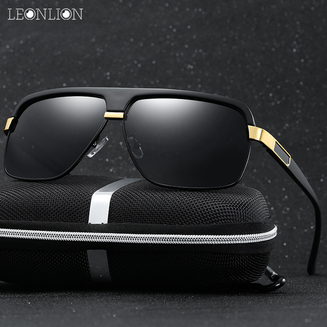 56325c712af LeonLion New Luxury Polarized Men Mirror Sunglasses UV400 Classic Safety  Retro Metal Goggle Eyewear Accessories For