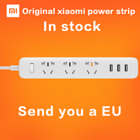 2016 Newest 100 Original Xiaomi Mi Smart Power Strip Outlet Socket 3 USB Extension Socket Plug