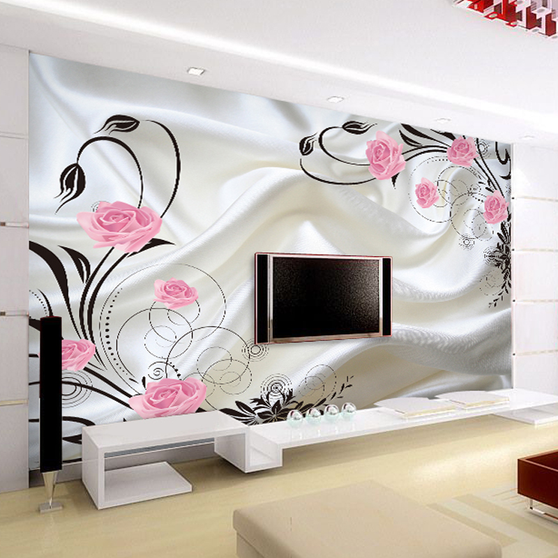 Beibehang custom sofa living room tv backdrop wallpaper for Custom mural wall covering
