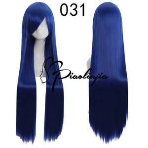 Image 4 - 100cm High Quality Anime Straight Long Wig Cosplay Costume Synthetic Hair Purple Silver White Grey Blue Rose Red Wigs For Women