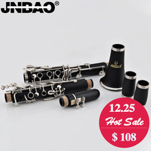 New JINBAO JBCL-530 Student Clarinet 17 key Professional clarinete B Flat Nickel plated Clarinet reeds case woodwind instruments