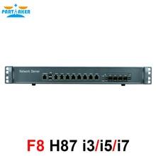 Сетевой сервер безопасности 1U брандмауэр ПК с 8 портами Gigabit lan 4 SPF i5 4430 3,2 ГГц Mikrotik PFSense ROS