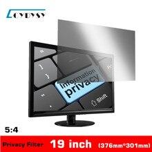 19 Inch Privacy Screen Anti-glare for 5:4 Standardscreen Desktop Computer/PC Monitors Privacy Filter 376*301mm(China (Mainland))