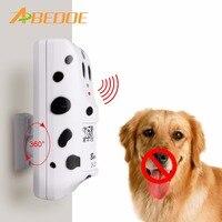 ABEDOE Pies Urządzenie Ultradźwiękowe Anti Bark Zatrzymaj Barking Dog Barking Sterowania Maszyną Training Trainer Urządzenie Dostarcza UE Wtyczką AMERYKAŃSKĄ