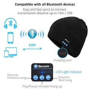 Image 4 - Bluetooth イヤホン音楽帽子冬ワイヤレスヘッドフォンキャップヘッドセットとマイクスポーツ帽子魅ソニー Xiaomi 電話ゲーミングヘッドセット