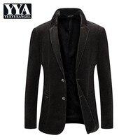 Для мужчин s одежда вельвет формальные Бизнес костюм повседневное однобортный пиджаки для женщин пальто человек демисезонный тонкий
