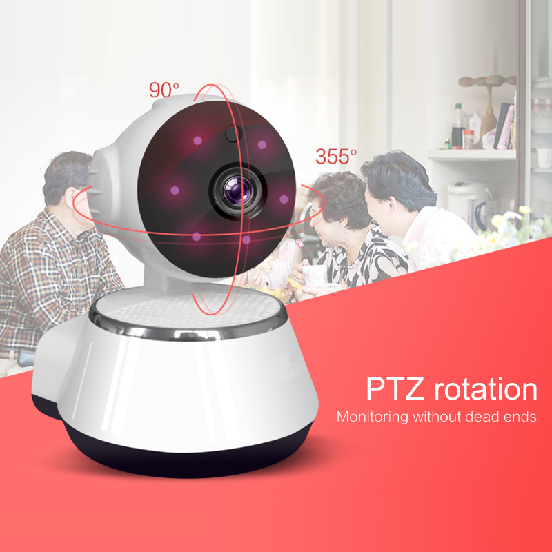 720P Wireless WIFI IP Camera Home Indoor Security Monitor Smart Network Video System Two Way Audio Night Vision PTZ Rotation