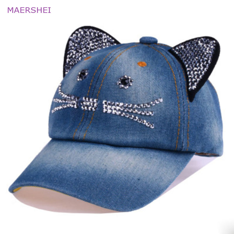 57181c647759a MAERSHEI Children s Baseball Cap Cat Ear Cartoon Cute Boy Girl Katie Rivet  Kids Snapback Cowboy Hat