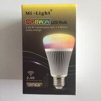 Milight 2.4g 스마트 전구 무선 e27 8 w rgb + 색 온도 변경 85 265 v dimmable rgbww led 조명 램프|LED 전구 & 튜브|등 & 조명 -