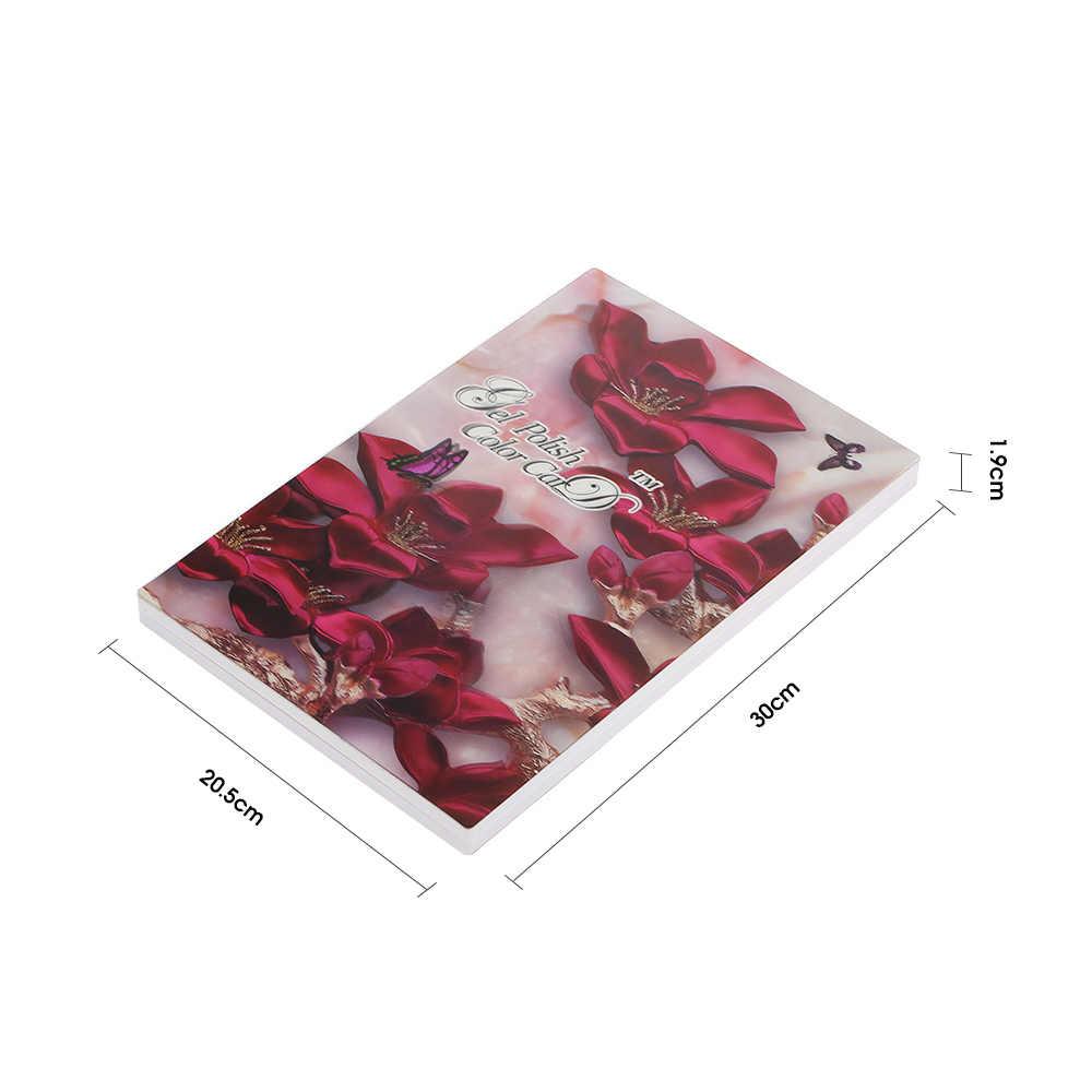 أظافر صناعية اللون كتاب 96 الألوان عرض انفصال مسمار الفن هلام البولندية اللون بطاقة مسمار لون الرسم البياني لوحة مسمار اللون بطاقة
