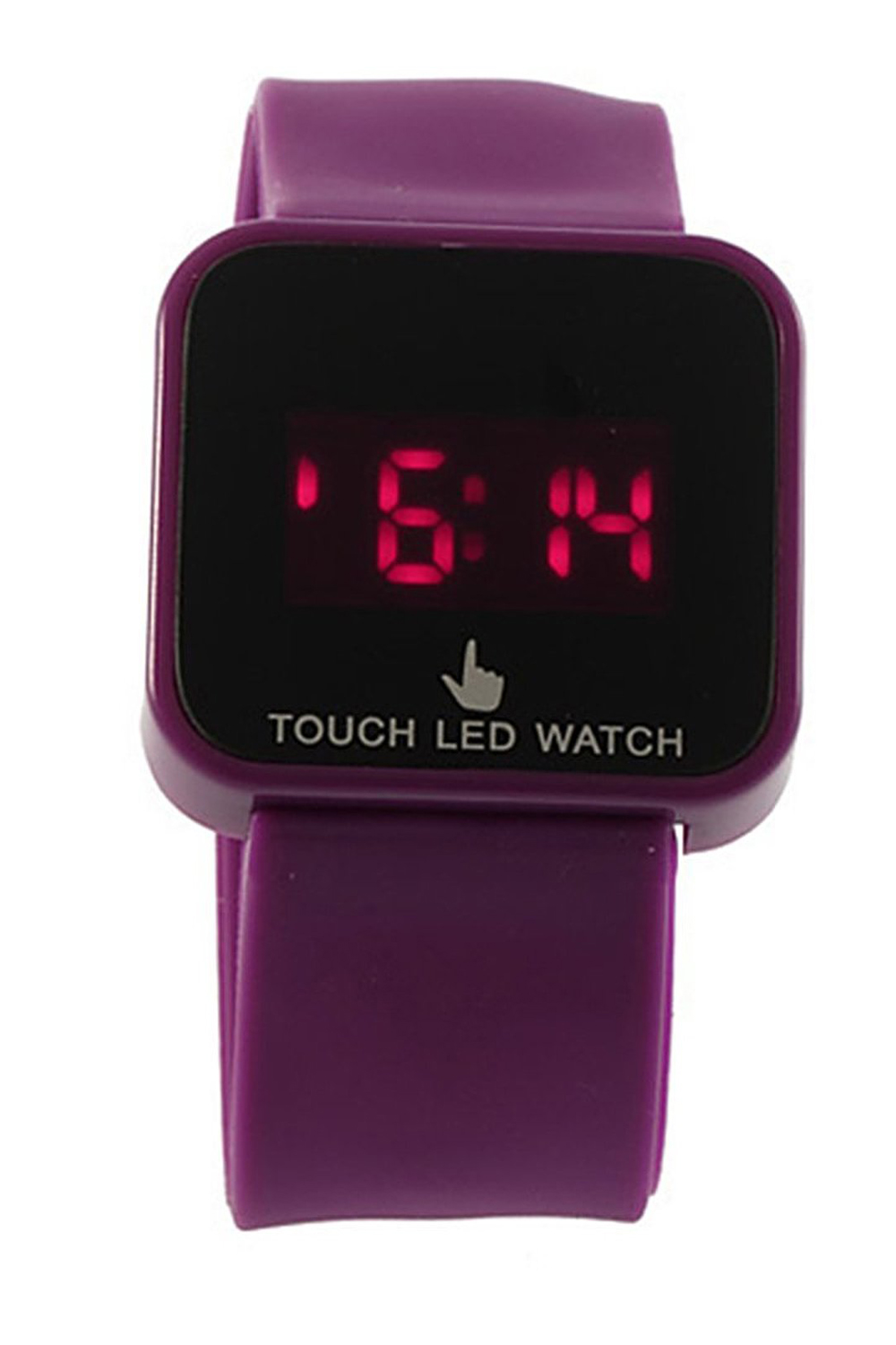 YCYS!Colorful Unisex LED Digital Touch Screen Silicone Wrist Watch Purple