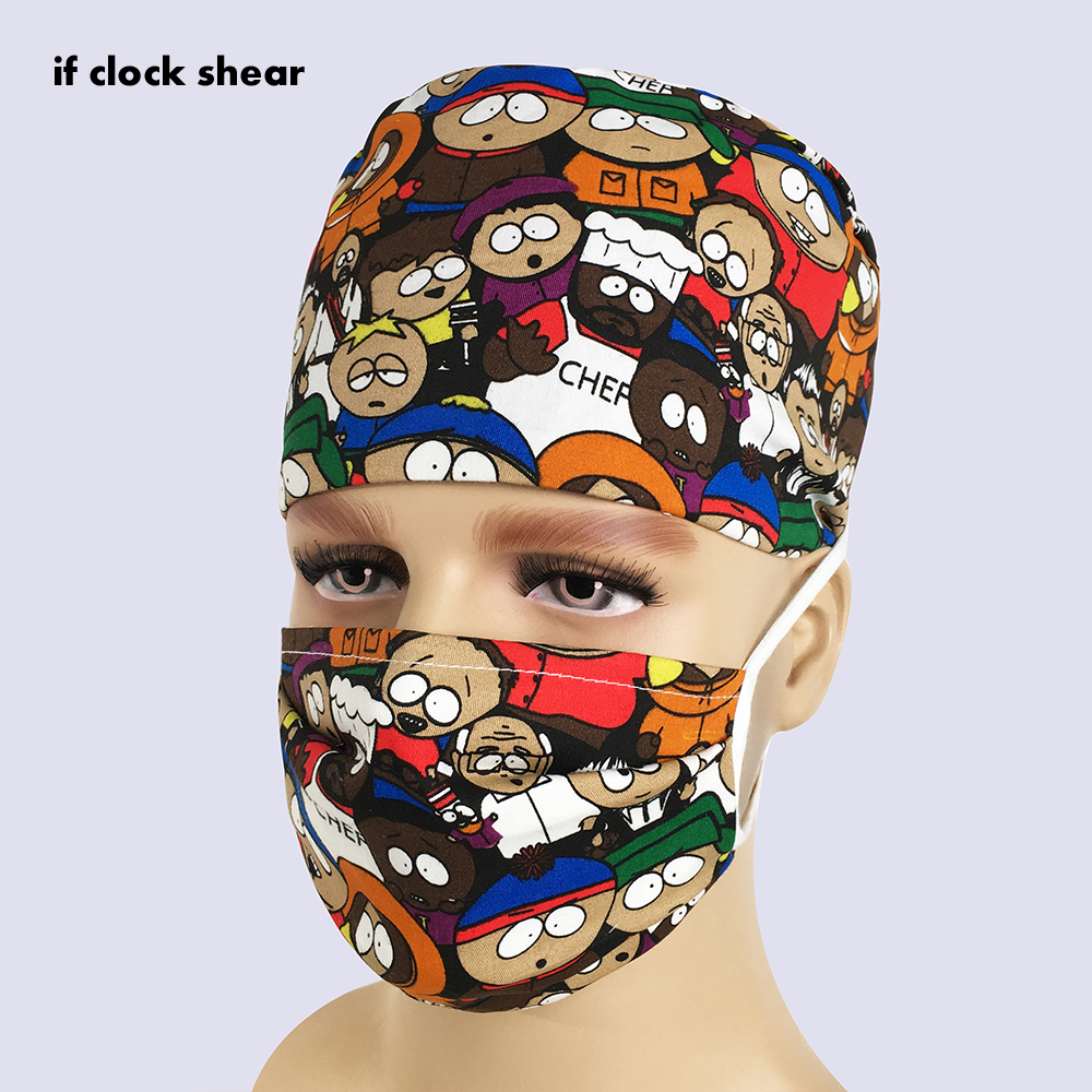 Unisex Pharmacy High Quality Beauty Men's Surgery Surgical Hat Practice Nurse Cap Medical Hospital Doctor Laboratory Printing