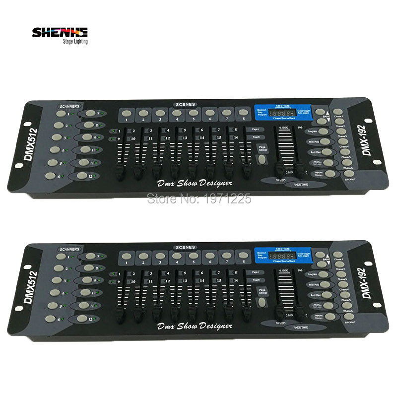 (2pcs) Stage Lighting DJ Equipment DMX Console 192 DMX Controller 512 DMX Console Disco Controller equipment Free shipping dhl free shipping sunlite suite1024 dmx controller 1024 ch easy show lighting effect stage equipment dmx color changing tool