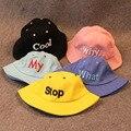 Дети Sun Cap Письмо Открытые Летние Девочки и Мальчики Пляж ведро Hat Gorro Touca Infantil Летние Шляпы для Детей 2-6 Лет