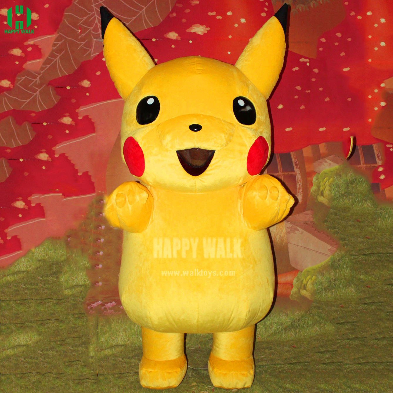 2019 New Hot Selling Movie Character Pikachu Inflatable Mascot Costume Halloween Party Performance Cartoon Costume For