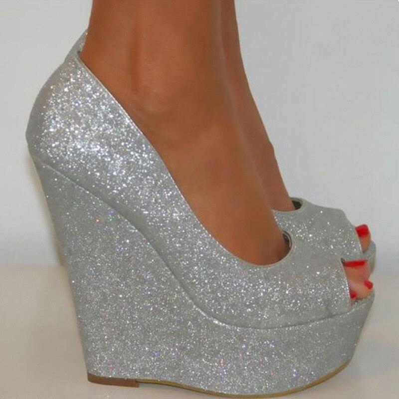 Popular Gold Wedge Wedding Shoes-Buy Cheap Gold Wedge Wedding