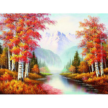 Full square diamond 5D DIY diamond embroidered landscape painting diamond painting cross stitch rhinestone inlaid jewelry YY(China)