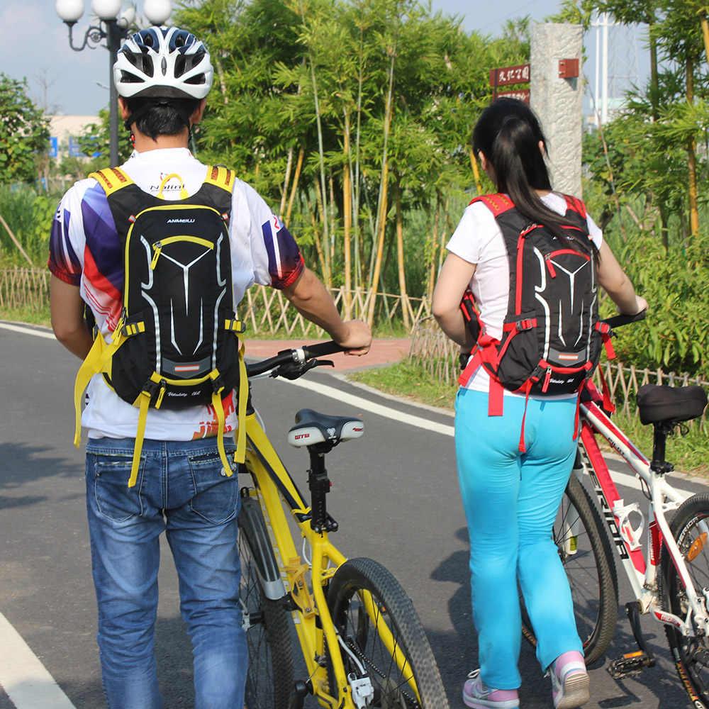 ANMEILU 18L Rucksack ปีนเขาขี่จักรยานกระเป๋าเป้สะพายหลังผู้ชายผู้หญิงกีฬากลางแจ้งกระเป๋ากันน้ำเดินป่ากระเป๋าเป้สะพายหลัง Rain COVER