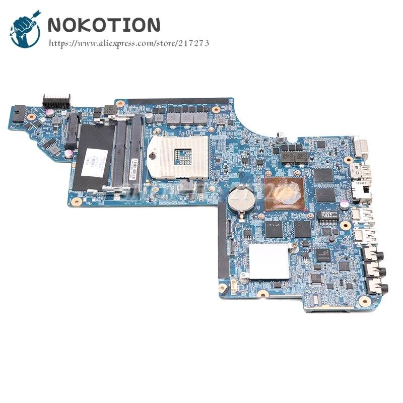 NOKOTION 665343-001 650799-001 MAIN BOARD For HP Pavilion DV6 DV6-6000 Laptop Motherboard HM65 DDR3 HD6770M 1GB GPU