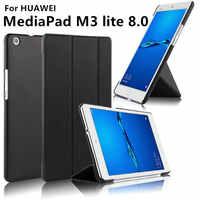 Caso para Huawei MediaPad M3 lite 8,0 pulgadas M3 lite 8 protectora de cuero Protector CPN-L09 CPN-W09 CPN-AL00 Tablet caso