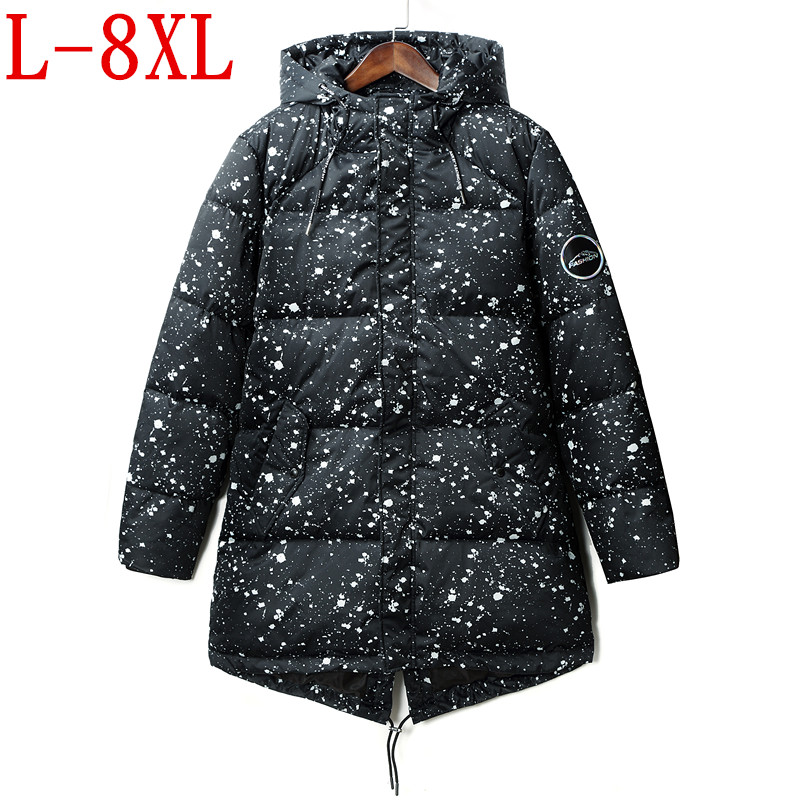 2017 plus size 8XL 7XL 6XL Soft Fabric Winter Men's Jacket Thickening Casual Cotton Jacket Winter Mid-Long Parka Men men plus size 4xl 5xl 6xl 7xl 8xl 9xl winter pant sport fleece lined softshell warm outdoor climbing snow soft shell pant