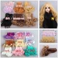 15*100CM 5pcs/lot Free Shipping Beautiful Rinka Curly Doll DIY Wigs For 1/3 1/4 1/6 BJD SD Wavy Handmade Dolls Wig Hair