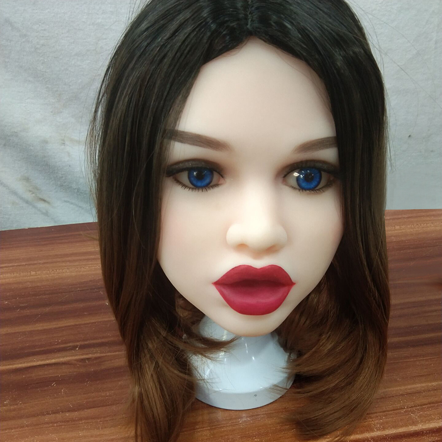 AILIJIA 64 Big Lips Oral Sex Doll Head with m16 Connector Male Doll Mold for Big Size Love Dolls 135cm 176cm Love Doll in Sex Dolls from Beauty Health