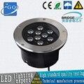 2 шт./лот  Fedex  DHL  9 Вт  подземные лампы  подземное освещение  напольное освещение  встраиваемые лампы 1Вт  DC12V или AC85-265V