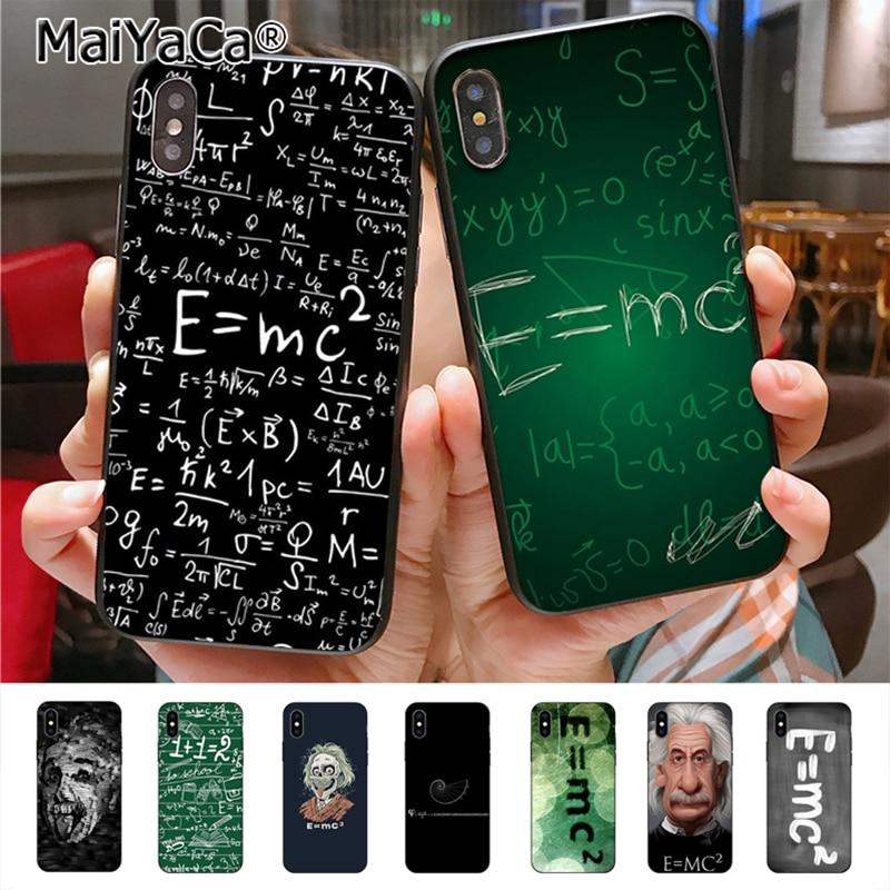 MaiYaCa e mc2 E=mc Math Albert Einstein High Quality Classic Phone Accessories C