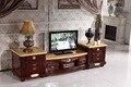 Antique gaveta de armazenamento de suporte para TV de madeira tampo de mármore made in China mobília da sala de estar