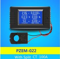 PZEM-022 AC 6in1 Eenfase 220 V Digitale Watt Power Factor Meter Stroom Spanning Frequentie Energie Meter Met Split CT