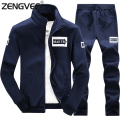 Brand Clothing Men Hooded Winter Tracksuit Mens Sportwear Letter Printing For Male Soft Wear