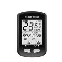 Bike Comeputer GPS Wireless Stopwatch Bicycle Speedmeter MTB Mountain Bike Road Bicycle Multifunction Cycling Sensor BLACK BIRD