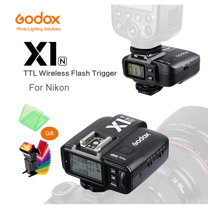 все цены на Godox X1N 2.4GHz i-TTL Wireless Transmitter and Receiver Trigger Set For Nikon D800 D3X D3 D2X D2H D1H D1X D700 D300 D200 D100