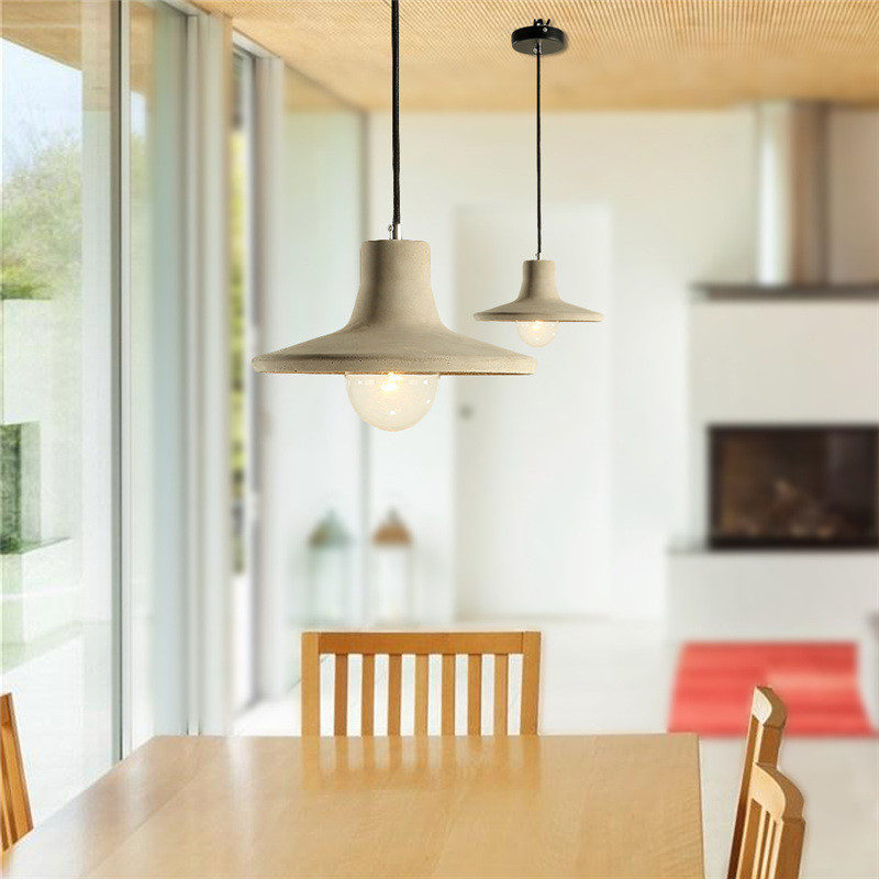 HUANJUNSHI Concrete Pendant Light Natural Cement Suspension Lamp Design Nordic Dinning Room Restaurant Hotel Hanging Lighting willlustr concrete pendant light cement suspension lamp minimalist design nordic hanging lighting dinning room restaurant hotel