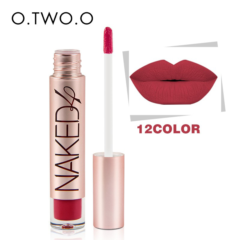 O TWO O Brand High Quality Matte Color Lip Gloss Easy to Wear Long Lasting Lips