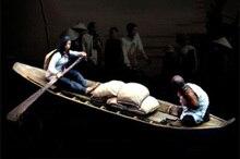 1/35 antigo 2 crew barco de madeira e acessórios, figura de resina modelo kits, miniatura gk desmontagem não pintada