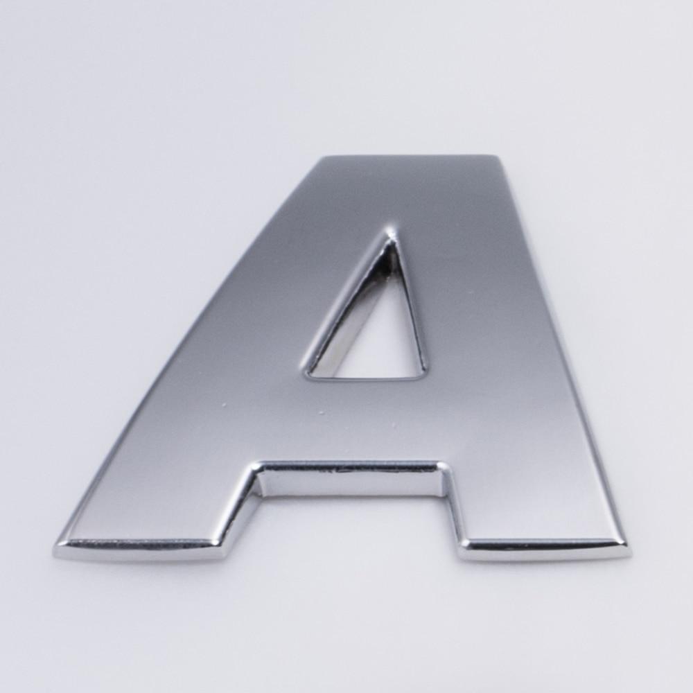 ▻DIY coche 3D letras metal Adhesivos 3D emblema pegatina alfabeto ...