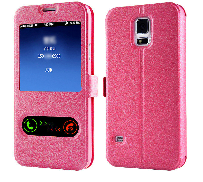 new product 61db6 823e2 Luxury Smart Front Window View Leather Flip Cover For Samsung Galaxy J2 Pro  J4 J6 A6 A8 2018 A3 A5 A7 J1 J3 J5 J7 2016 2017 Case