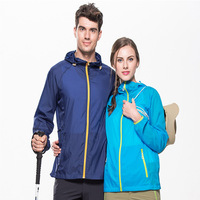 Summer Outdoor Sunscreen Skin Clothing Women Men Sun Protective Jackets Hooded Light Thin Breathable Wearable White