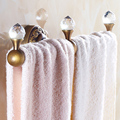 Antique Copper&crystal Bathroom Towel Rack Luxury Bronze Brushed Wall Mounted Single Rod  Towel Bar Bathroom Accessories Sj6