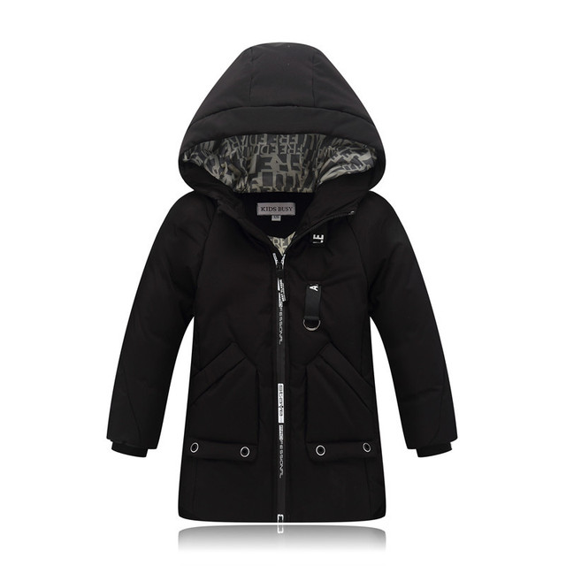 Куртка для мальчиков зима 2018 новая Брендовая детская зимняя куртка для подростков мальчиков Теплый пуховик пальто; верхняя одежда для девочек парки возраст 4-10 лет