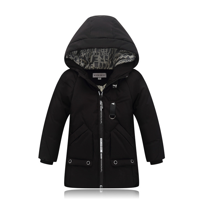 Boys Jacket Winter 2018 New Brand Kids Winter Jacket For Teenagers Boy Warm Down Coats Girls Outerwear Parkas 4-10 Years