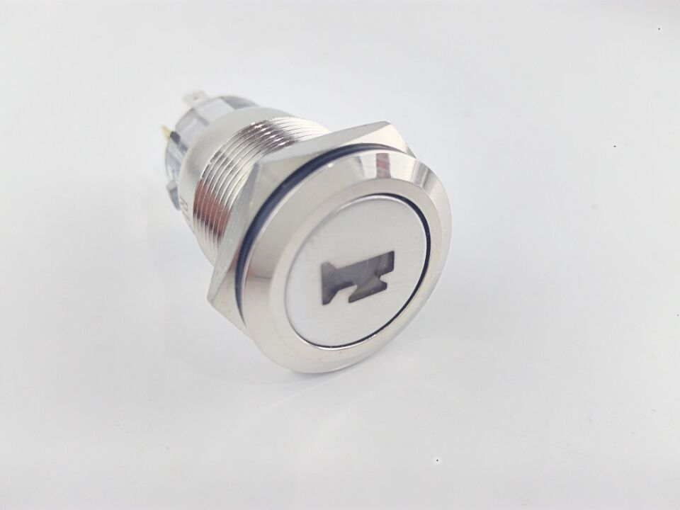 12V 19mm Car Boat Momentary ON-Off Metal Push Button LED Lighted Air Horn Switch 5pcs lot high quality 2 pin snap in on off position snap boat button switch 12v 110v 250v t1405 p0 5