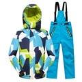 Menos de 25 grados de niños prendas de abrigo abrigo deportivo traje de esquí ropa fijada a prueba de viento impermeable niños niñas chaquetas para 5 - 14 T