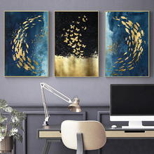 Wall Paintings Posters and Prints Art Canvas Painting Abstract Golden Fish Butterfly Pictures for Living Room Nordic Decor