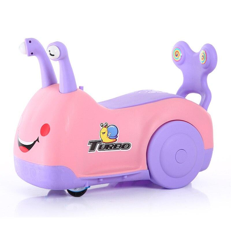 2017 nouveaux enfants Scooter escargot tour sur enfant Yo-Yo bébé poussette voiture équilibre pied Scooter